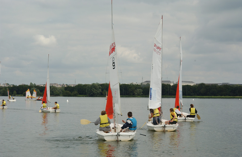 Sailing on Lac de Maine (Angers)
